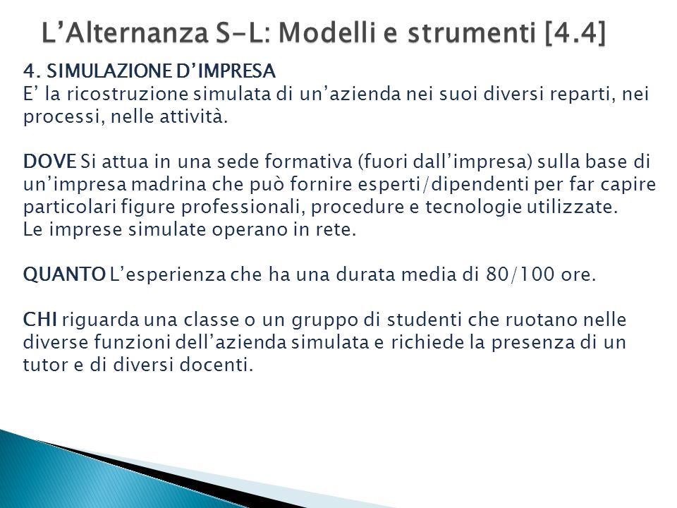 L'Alternanza S-L: Modelli e strumenti [4.4]